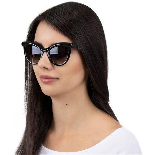 Okulary przeciwsłoneczne, Okulary przeciwsłoneczne kocie oko damskie czarne