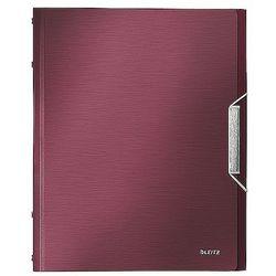 Teczka segregująca Leitz Style 6 przegródek 200 kartek rubinowa czerwień 39950028