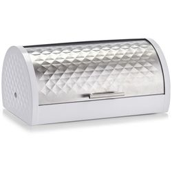 Biały pojemnik na chleb ze stali nierdzewnej, biały chlebak, chlebak metalowy, chlebak ze stali nierdzewnej, chlebaki nowoczesne, ZELLER