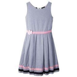Sukienka na uroczyste okazje bonprix indygo-biały