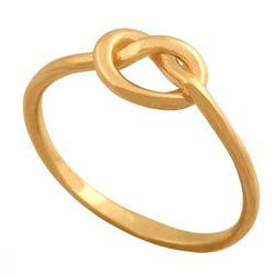 Ciekawy pierścionek w formie precelka. Idealny do noszenia w połowie palca.40124