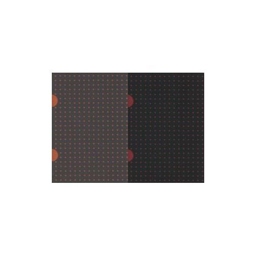 Notesy, Notes B7 Paper-oh Cahier Circulo Black on Red / Grey on Orange