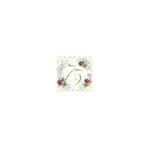 Pozostałe artykuły szkolne, Karnet Swarovski kwadrat CL1475_PO Urodziny 75