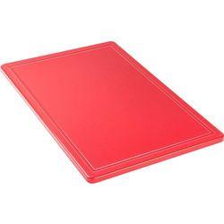 Deska do krojenia 600x400x18 mm czerwona STALGAST 341631