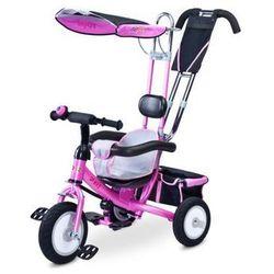 Rowerek trójkołowy gumowe koła Toyz Derby sterowany PINK