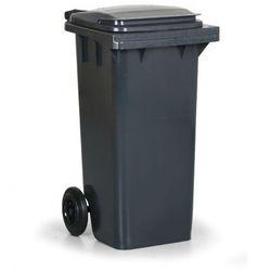 Plastikowy pojemnik na odpady CLD 120 litrów, ciemno-srazy