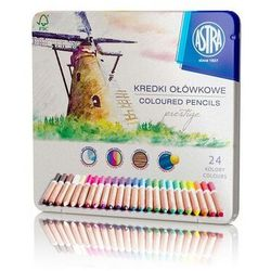 Kredki ołówkowe Prestige 24 kolory w kasetce - Astra