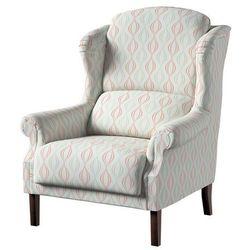 Dekoria Fotel Unique, szaro-łososiowe fale na białym tle, 85×107cm, Geometric