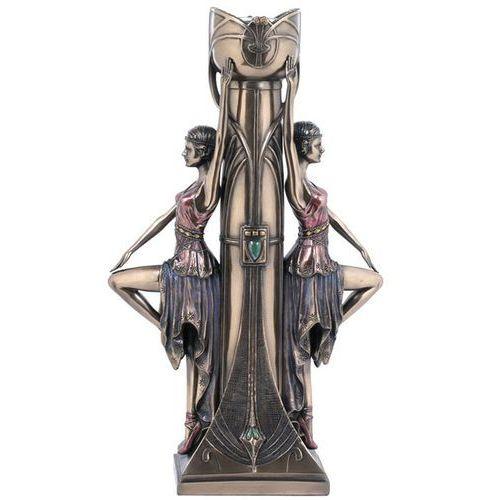 Świeczniki, ŚWIECZNIK Z KOBIETAMI W STYLU ART DECO VERONESE (WU74867A4)