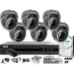 Monitoring po skrętce BCS Basic Full HD 2MPx 1TB H265+ 6 x Kamera kopułkowa 2.8-12mm IR 40m