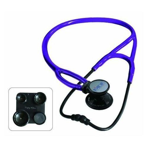 Stetoskopy, Stetoskop kardiologiczny MDF ProCardial ERA 797X lekki 6w1 - czarno-purpurowy