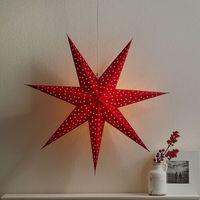Ozdoby świąteczne, Gwiazda Clara, aksamitny wygląd, Ø 75 cm, czerwona