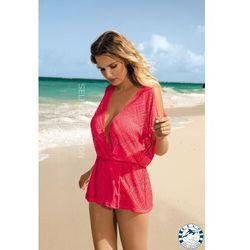 Sukienka - pareo self d 62 rozmiar: xl/2xl, kolor: różowy, self