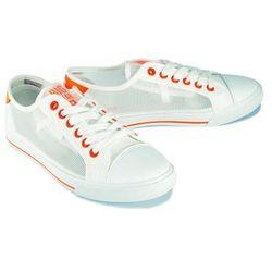 BIG STAR FF274447 biały/pomarańczowy, półtrampki młodzieżowe - Biały