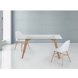 Stół - szklany - 160 cm - kuchenny - do jadalni - HUDSON