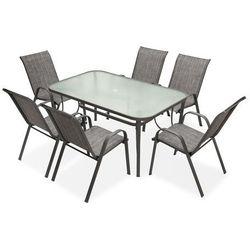 Meble stołowe do ogrodu Modena Szary dla 6 osób Garden Point