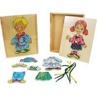 Zabawki z drewna, BRIMAREX Ukł.Drewniana Dzieciubieranie