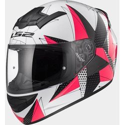 KASK LS2 FF352 ROOKIE BRILLIANT WHITE-PINK