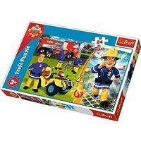 Puzzle, Puzzle 24 maxi Dzielny strażak Sam TREFL