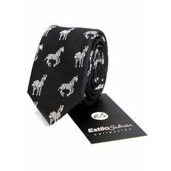 Męski krawat w zebry Estilo Sabroso Es03845