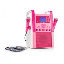 auna KA8P-V2 BK zestaw karaoke odtwarzacz CD AUX 2 x mikrofon 3 CD + G do karaoke