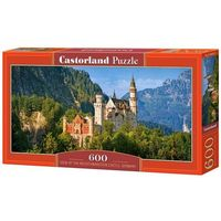 Puzzle, Puzzle 600 Panoramiczne: View of the Neuschwanstein Castle, Germany