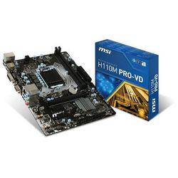 Płyta główna MSI H110M PRO-VD, H110, DDR4-2133, SATA3, DVI, VGA, M-ATX Szybka dostawa! Darmowy odbiór w 20 miastach!