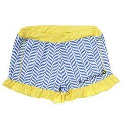 Spodenki kąpielowe dziewczęce Ducksday UV50+ biało niebieski żółty
