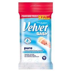 VELVET 16szt Baby Pure Chusteczki nawilżane dla dzieci w wersji mini