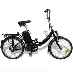 vidaXL Rower elektryczny składany z akumulatorem litowo-jonowym aluminium Darmowa wysyłka i zwroty