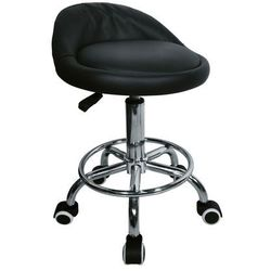 Krzesło taboret kosmetyczny fryzjerski hoker design Czarny OUTLET