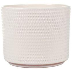 Osłonka doniczki Cermax Calla cylinder 14 cm kremowa