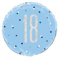 Balony, Balon foliowy niebieski - 18 - 46 cm - 1 szt.