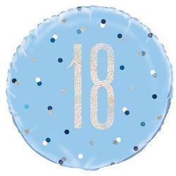Balon foliowy niebieski - 18 - 46 cm - 1 szt.