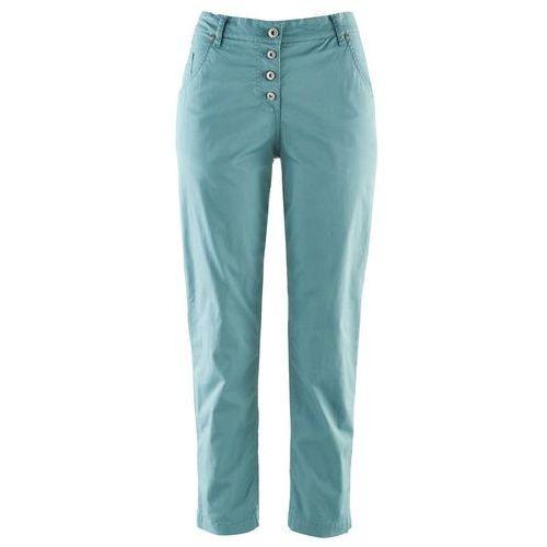 """Spodnie damskie, Spodnie chino """"papertouch"""" 7/8, WIDE bonprix niebieski mineralny"""