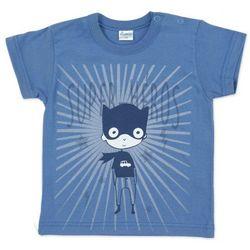 Koszulka z Superbohaterem (Krótki Rękaw), Garcon / Granatowa, PINOKIO
