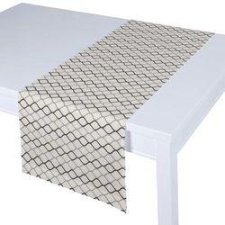 Dekoria Bieżnik prostokątny, szaro-czarne fale na białym tle, 40 × 130 cm, Geometric
