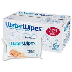 WaterWipes karton - chusteczki nasączane czystą wodą - 12 opakowań po 60 szt.
