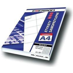 Etykiety 140 X 97,0 mm, 4 szt/A4 EMERSON uniwersalne (G) - X06643