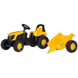 Rolly Toys Traktor na pedały Rolly Kid JCB z przyczepą, żółty - BEZPŁATNY ODBIÓR: WROCŁAW!