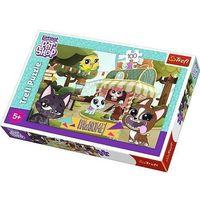 Puzzle, Puzzle 100 elementów - Littlest Pet Shop, Zabawa w parku