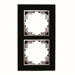 Ramka dwukrotna szklana czarna Seria Corner