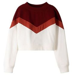 Krótka bluza bonprix czerwono-biały