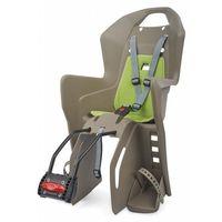 Foteliki rowerowe, Fotelik POLISPORT Koolah FF brązowy-zielony / Montaż: tył