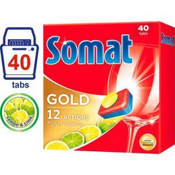 Somat Gold Lemon & Lime tabletki do zmywarki – 40 szt. - BEZPŁATNY ODBIÓR: WROCŁAW!