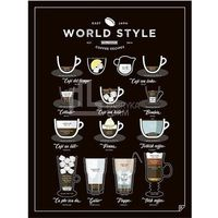 Plakaty, Plakat World Style Coffee 30 x 40 cm
