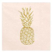 """Serwetki, Serwetki """"Aloha - Ananas"""", jasnobrzoskwiniowe, PartyDeco, 33 cm, 20 szt"""