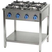 Piece i płyty grzejne gastronomiczne, Kuchnia gazowa wolnostojąca z półką 36 kW STALGAST 999553