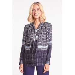 Granatowa bluzka we wzory - Duet Woman
