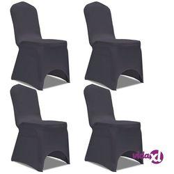 vidaXL Elastyczne pokrowce na krzesła antracytowe 4 szt. Darmowa wysyłka i zwroty
